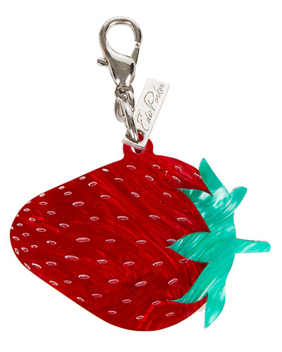 Acrylic Strawberry Key Charm, Red