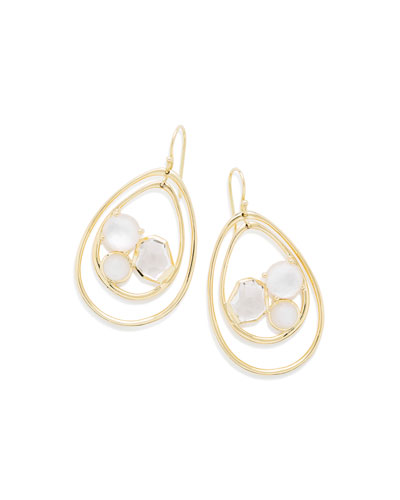 18K Rock Candy Pear-Shaped Wire Earrings in Antique White
