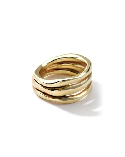 18k Gold Glamazon Triple-Squiggle Ring