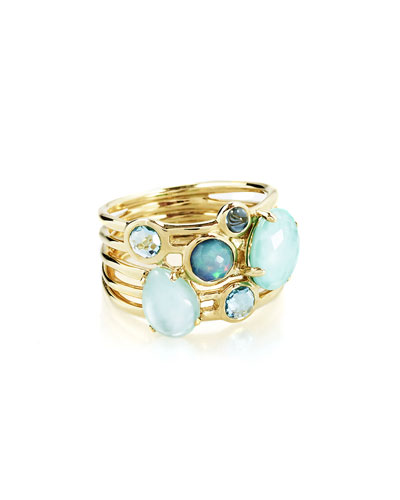 18k Rock Candy Gelato 6-Stone Cluster Ring