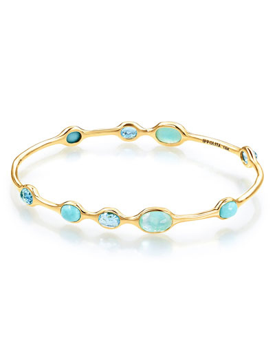 18k Gold Rock Candy® 9-Station Bangle in Waterfall