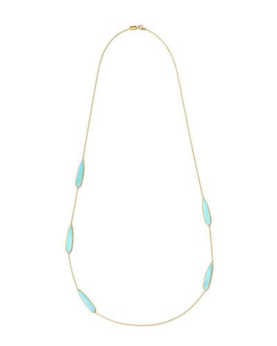 18K Polished Rock Candy Station Necklace