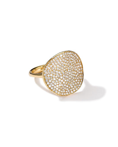 Stardust 18k Gold Floral Ring with Diamonds