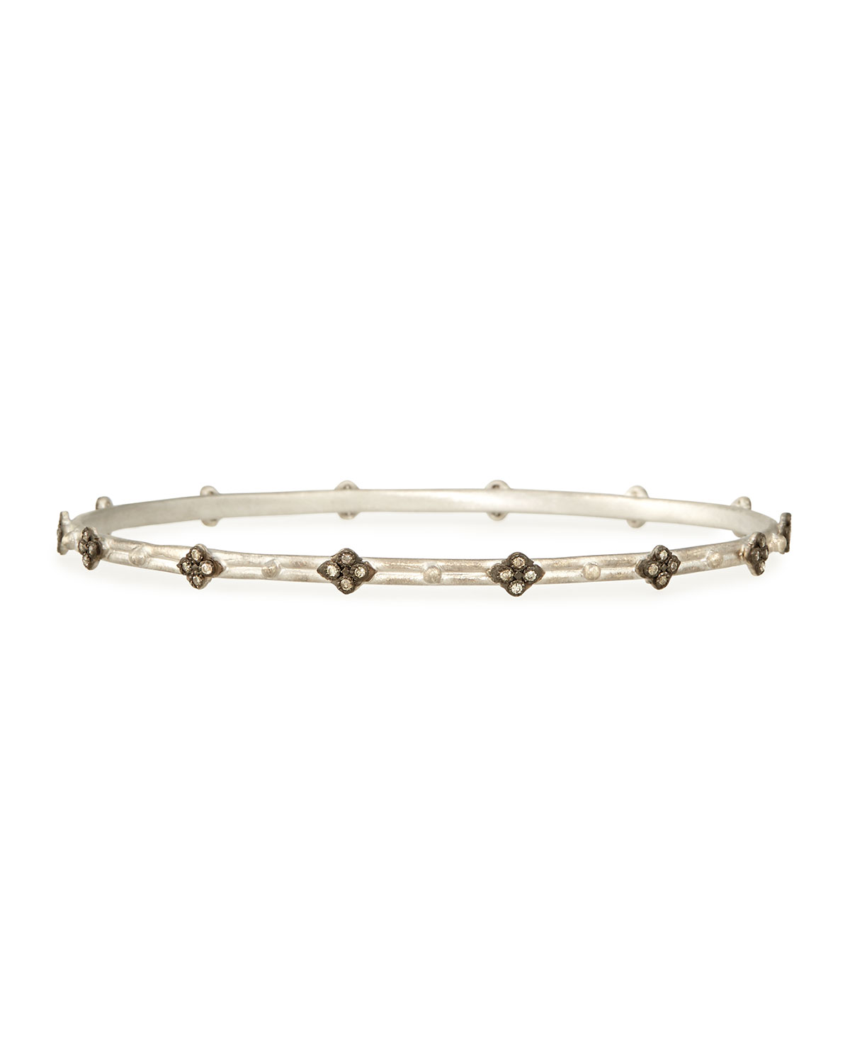 Champagne Diamond Cravelli Silver Bangle