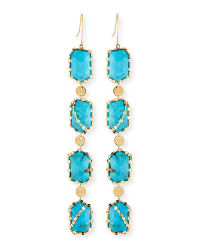 Bliss Dream Turquoise Drop Earrings
