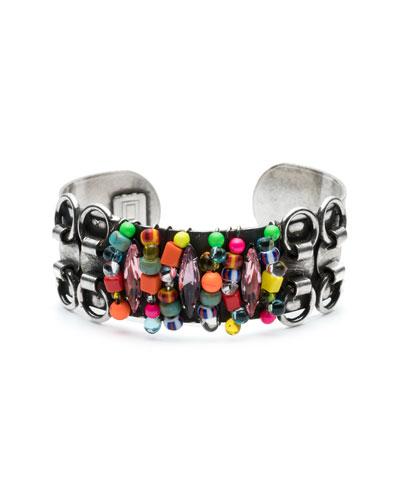 Feliz Crystal Cuff Bracelet