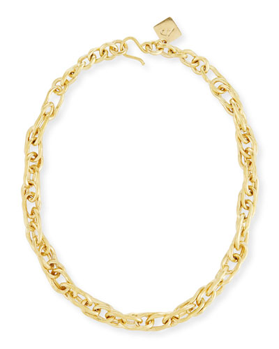 Saka Bronze Chain Link Necklace