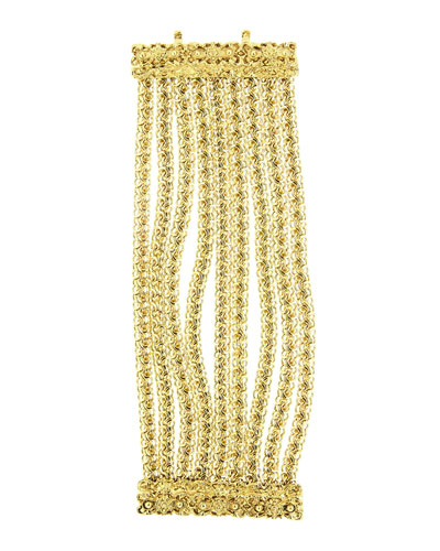 Golden Multi-Row Chain Bracelet