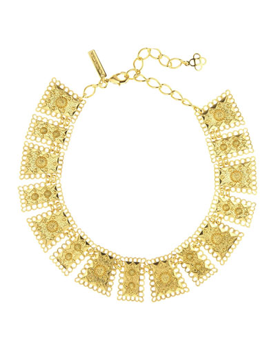 Golden Scalloped Edge Necklace