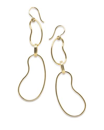 18K Classico Kidney Link Drop Earrings