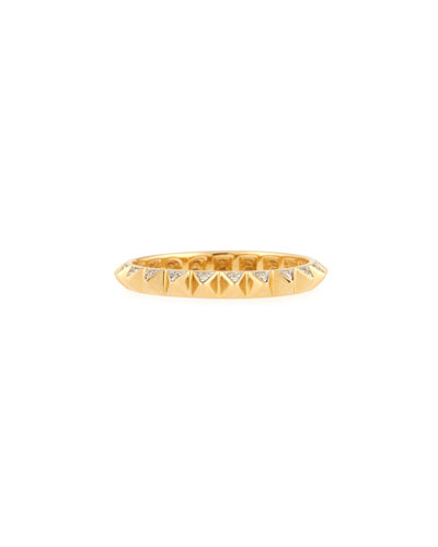 Mini Pyramid Eternity Ring with Diamonds