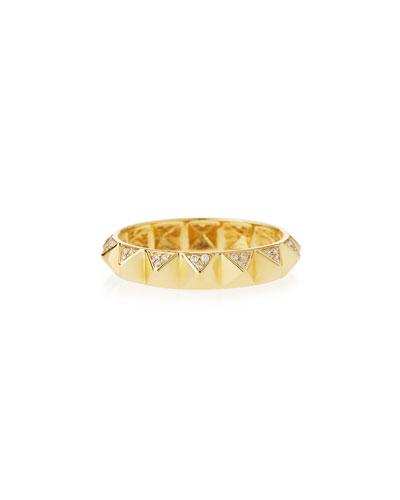 14k Pave Diamond Pyramid Eternity Band Ring
