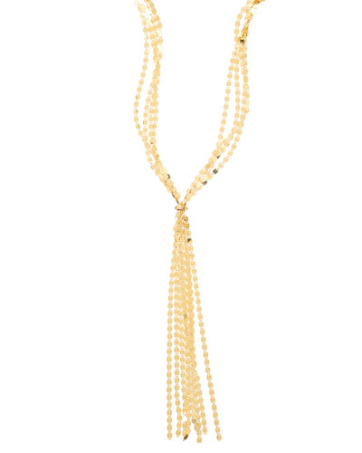 Mega Nude Fringe Necklace in 14K Yellow Gold