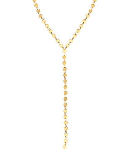 14k Elite Mirror Disc Lariat Necklace