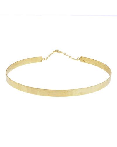 Gloss 14K Gold Choker Necklace
