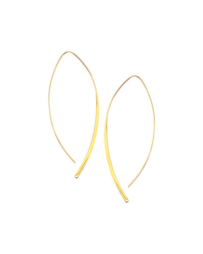 14k Gold Large Arch Hoop Earrings