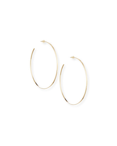 14k Gold Mega Lana Hoop Earrings