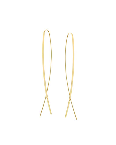 Mega Narrow Flat Upside Down Hoop Earrings