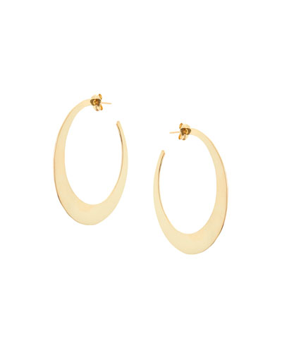 Medium Gloss Hoop Earrings in 14K Yellow Gold