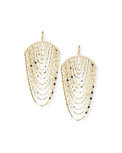 Large Nude Cascade Earrings