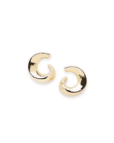 18K Classico Snail Hoop Earrings