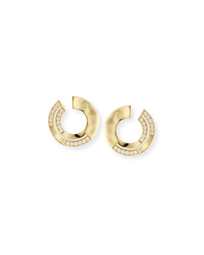 Ippolita 18K Senso Open Hoop Earrings toPG7e55