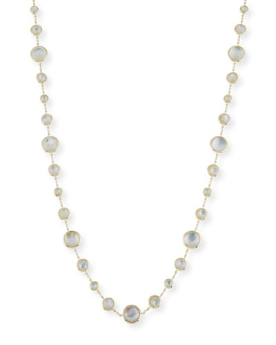 18K Lollipop® Lollitini Long Necklace in Mother-of-Pearl Doublet & Mother-of-Pearl, 36