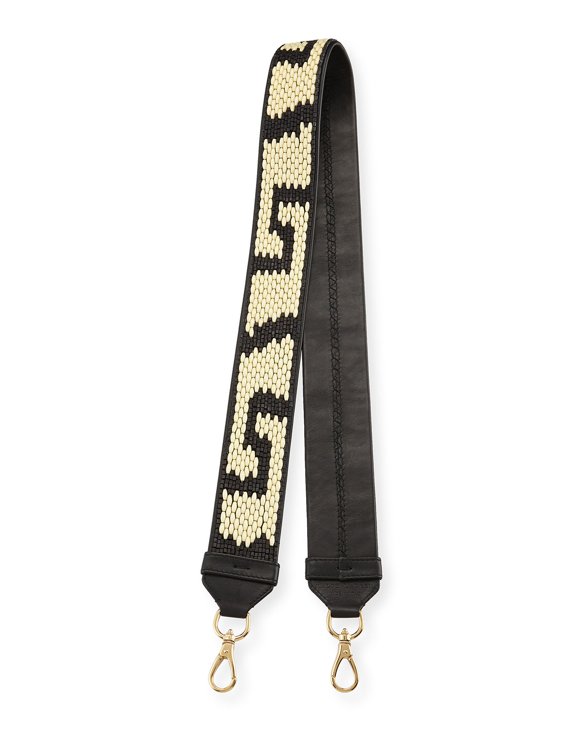 Beaded Leather Handbag Strap