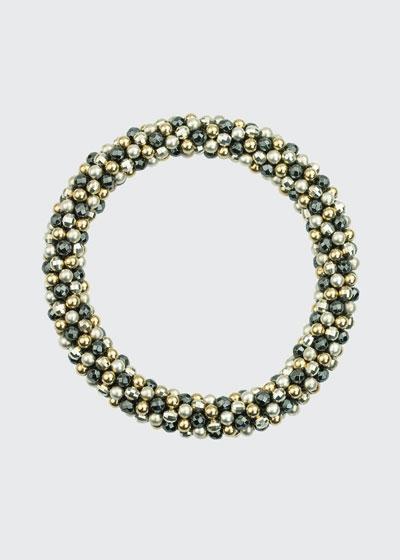Odette 14k, Silver and Labradorite Bead Bracelet