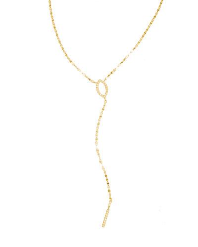 Flawless 14K Marquis Mini Diamond Lariat Necklace