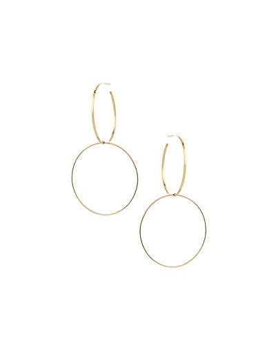 Bond Large Double-Hoop Drop Earrings