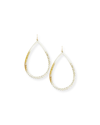 Kambi Light Horn Teardrop Earrings