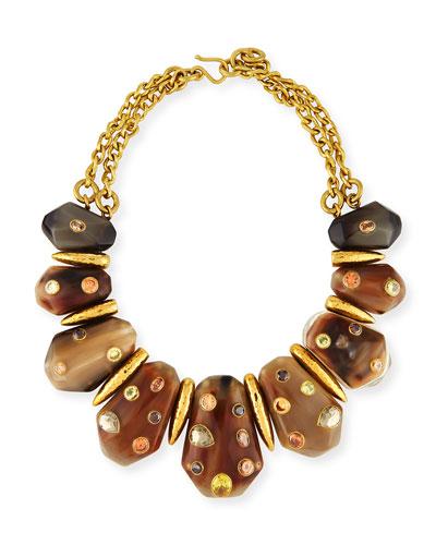 Lipua Mixed Horn Collar Necklace