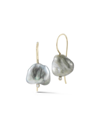 Sea of Beauty Pearl & Diamond Drop Earrings