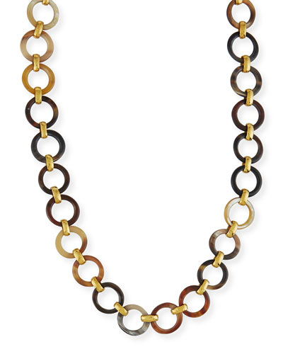 Mtego Mixed Horn Link Necklace