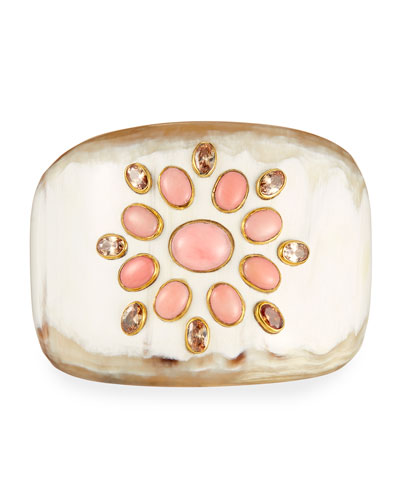 Bendi Light Horn Coral Cuff Bracelet