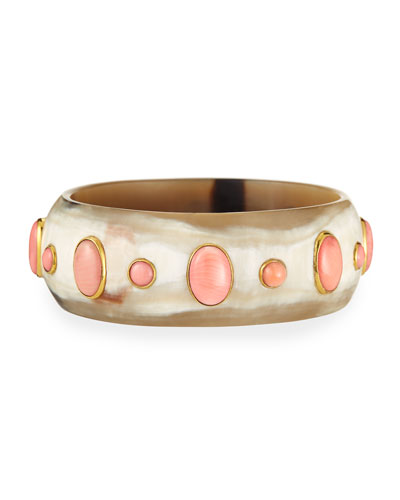 Winda Coral Cabochon Bangle