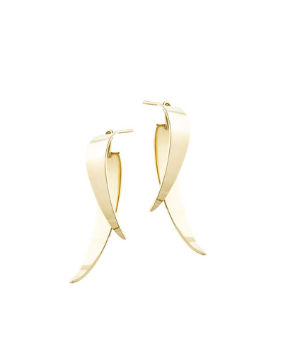Double Dagger Stud Jacket Earrings