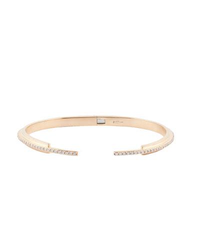 Diamond Tip Stacking Cuff Bracelet