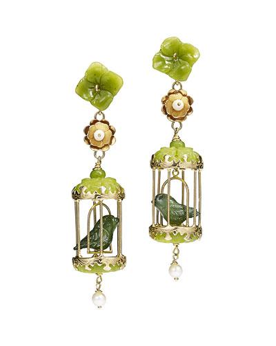 Aviary Classic Jade & Pearl Earrings