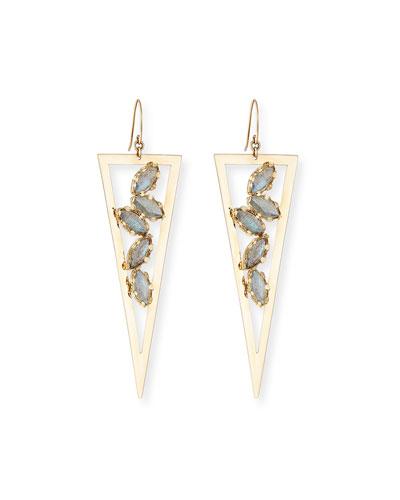 Ultra Spike Drop Earrings with Labradorite