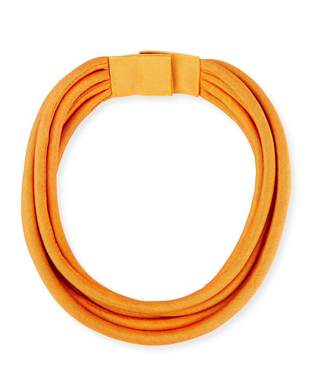 Multi-String Silk Cord, Yellow