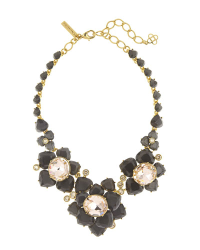 Faceted Resin Flower Statement Necklace