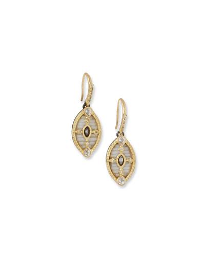 Old World 18k Mosaic Drop Earrings