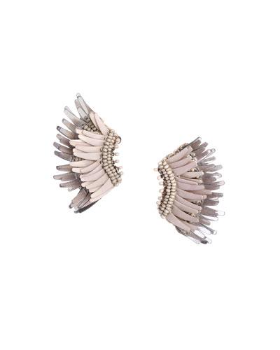 Mini Madeline Statement Earrings, Gray