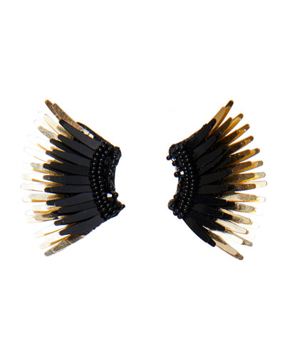 Mini Madeline Statement Earrings, Black/Golden