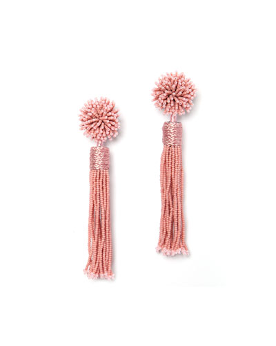 Lana Beaded Tassel Earrings