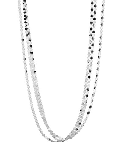 Short Nude Three-Strand Necklace, 16