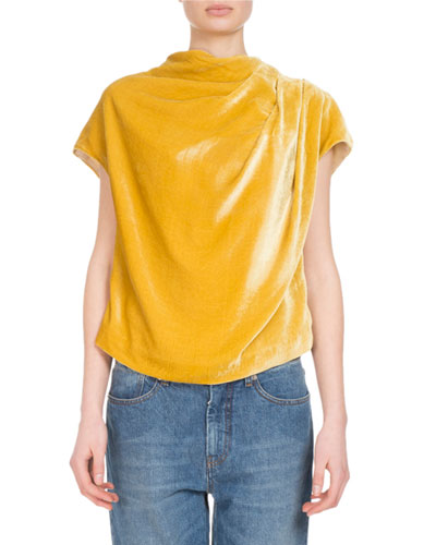Cozumel Draped Velvet Top