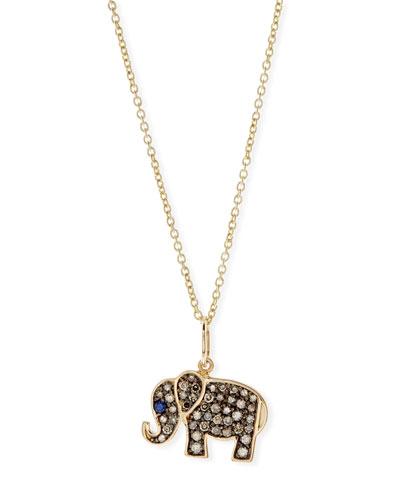 Anniversary Elephant Necklace with Diamonds